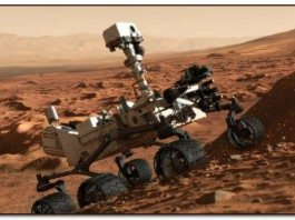 The iconic Curiousity exploring the surface of Mars
