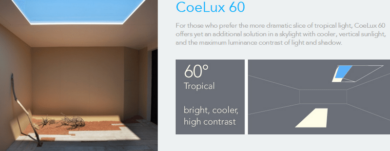 `The Coelux 60 - bright, tropical sunshine