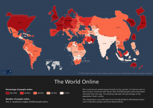 Digital cartography by the Oxford Internet Institute