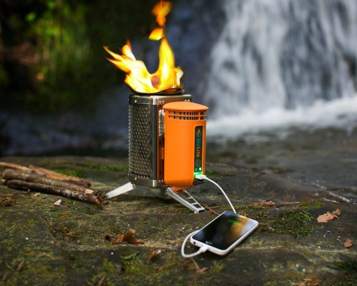 Wood burning camp stove that charges your electronics