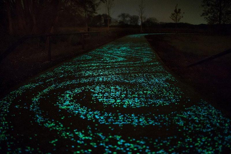 Glowing Bike Path Netherlands