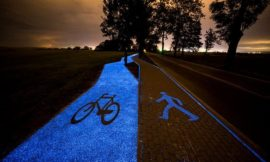 Poland's stunning solar powered glow-in-the-dark bicycle lane