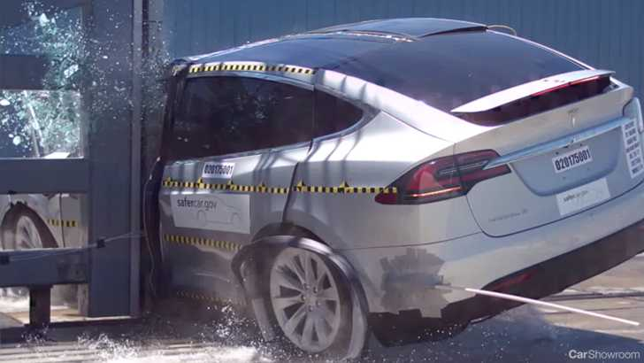 It hurts to watch but Tesla claims that 93% of Model X passengers who become involved in an accident will walk away pretty much unscathed!