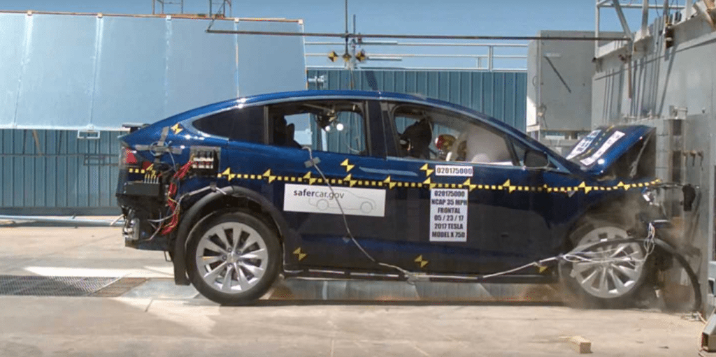 Fortunately, few of us will ever be in a collision like this test of the Tesla Model X.
