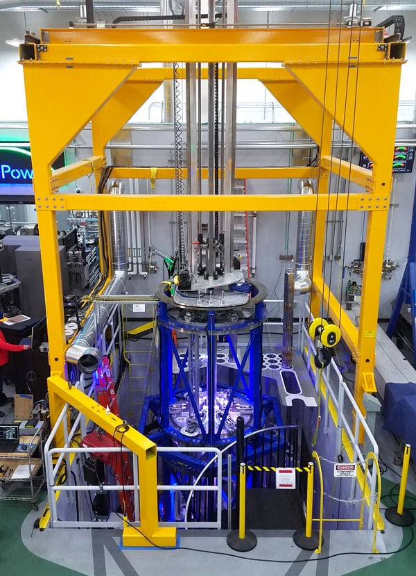 Photo: Michael Koziol Hardcore Testing: The full-scale reactor-core test assembly is more than three stories tall.