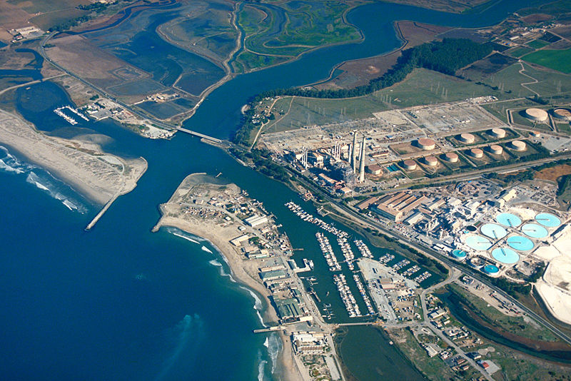 The sprawling power plant at Moss Landing is among four giant lithium-ion storage projects of Pacific Gas and Electric  (PG&E), California's largest utility.