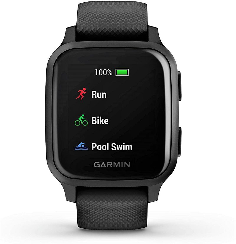 The Garmin Venu Sq has excellent blood-oxygen monitoring and sleep tracking features. Garmin's competitors only offer these two features for premium subscriptions. Garmin includes both in its more basic trackers and doesn't require a subscription.